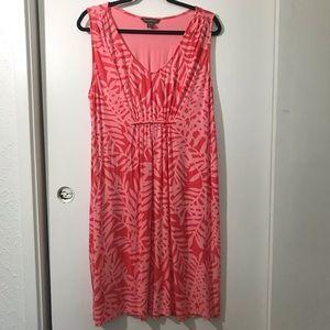 Tommy Bahama  Peach Palm Leaf Knit Dress size XL